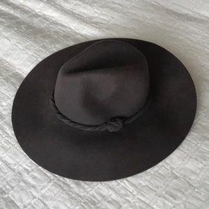 Free people grey suede hat